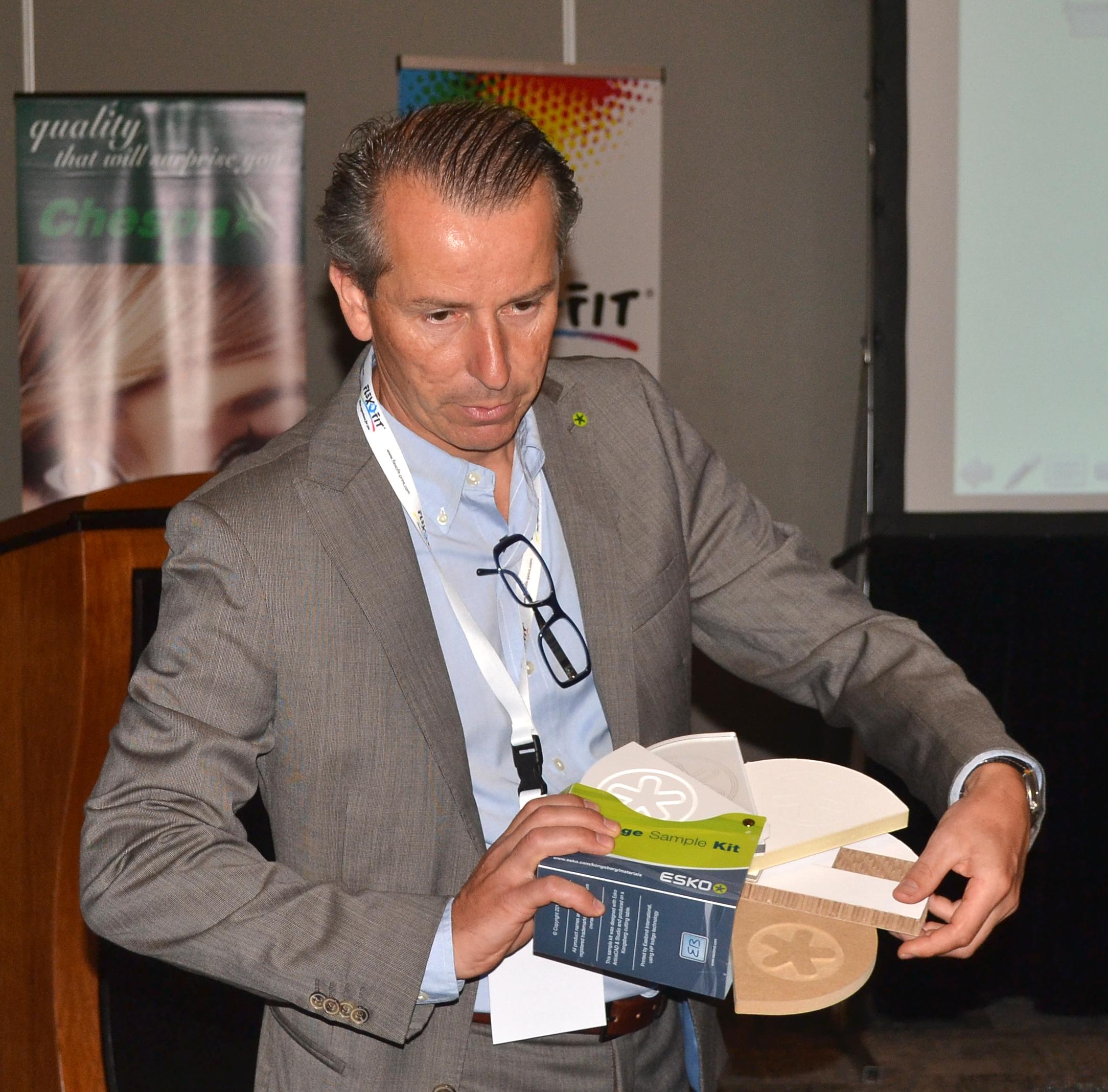 Mr. Pierre Feltgen- Sales Manager - Esko-Belgium.