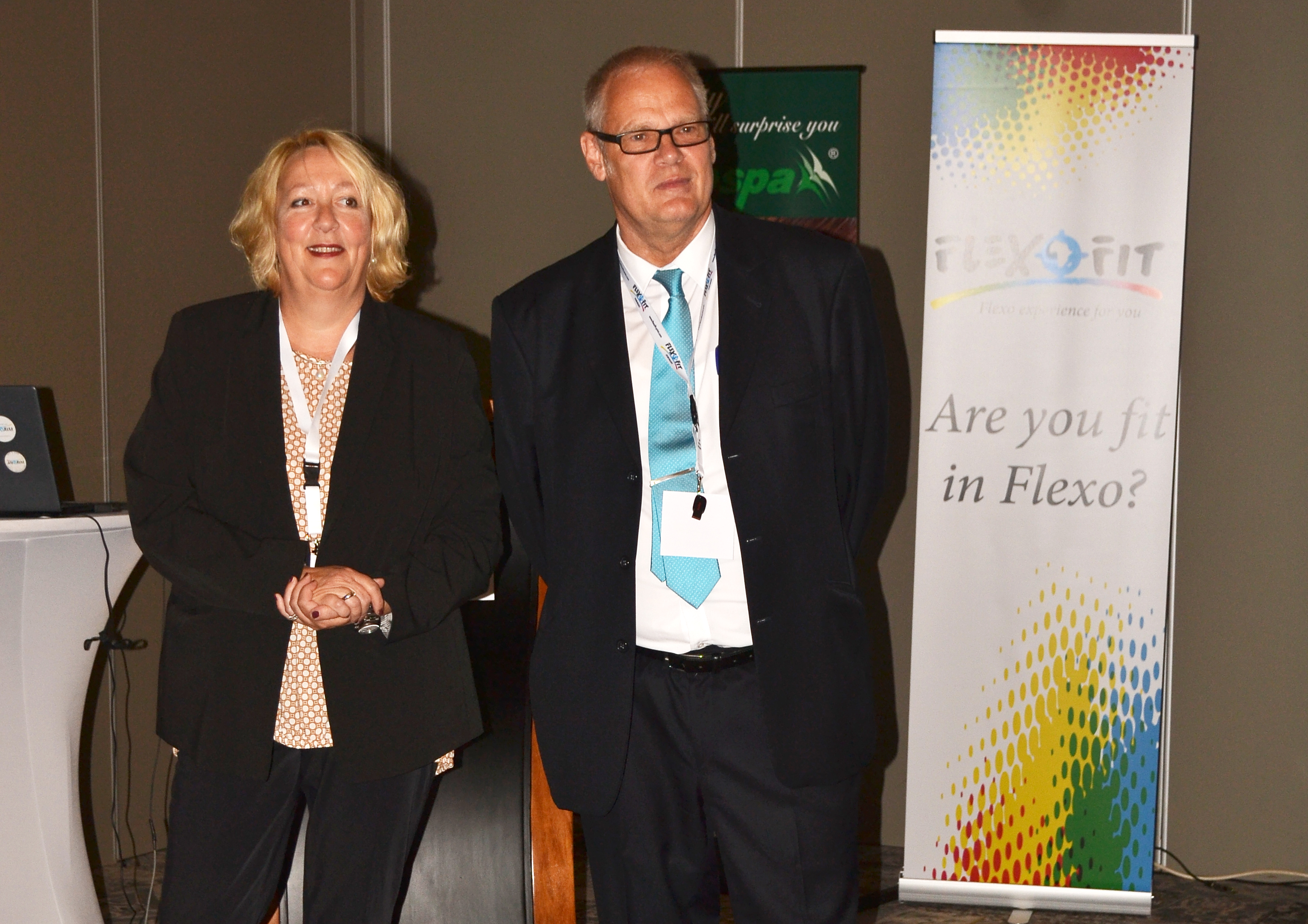 Karla Grey and-Peter Hormann Welcome Audience Introducing-Flexofit
