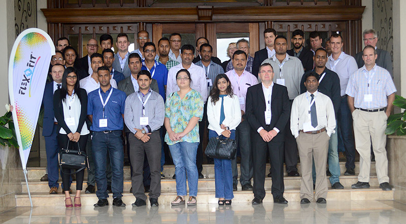 Group Photo of all participants at the Flexofit Mauritius Seminar in Port Louis, November 2016